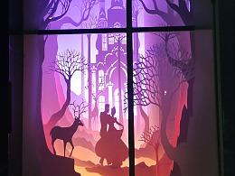 大型光影纸雕橱窗