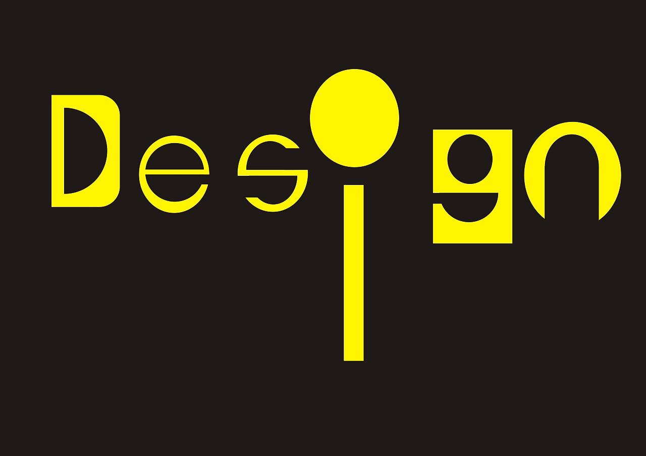 disign字体设计图片