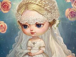 【画娃娃】——身披白纱