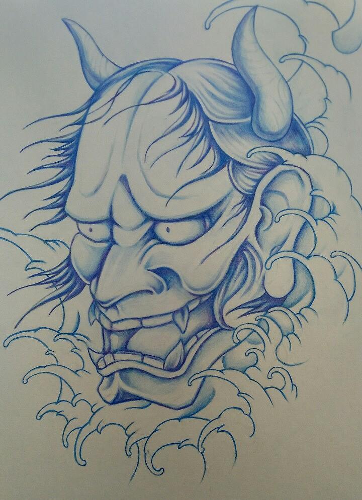 手绘纹身稿临摹