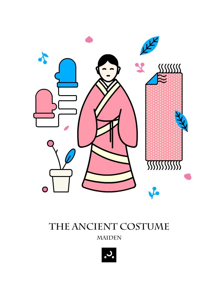 古代人物服饰 商业插画 插画 屎仔图片