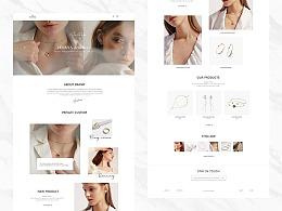 饰品珠宝网页设计