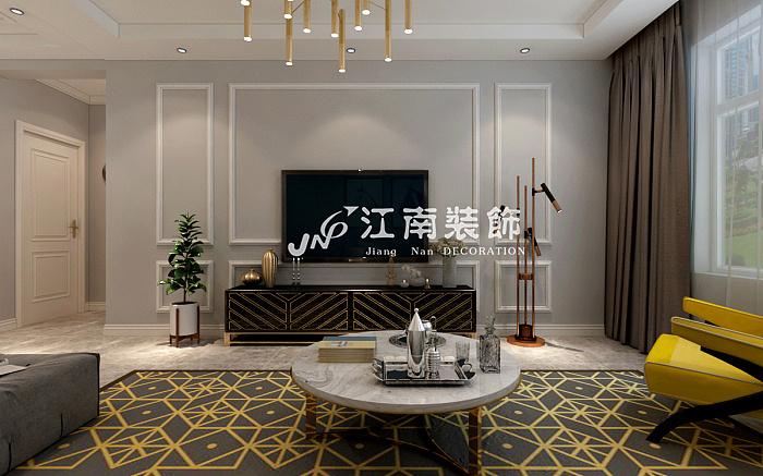哈尔滨江南装饰公司中海文昌公馆现代风格装修效果图
