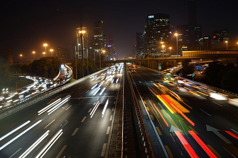 北京四惠桥 车流轨迹