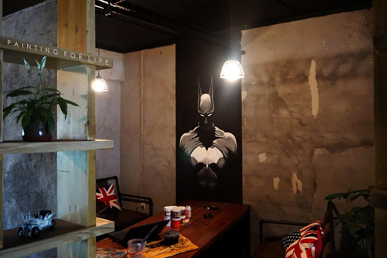 musse cafe 室内墙绘图片