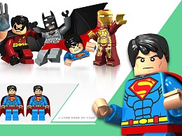积木玩具3D动作设定及效果图