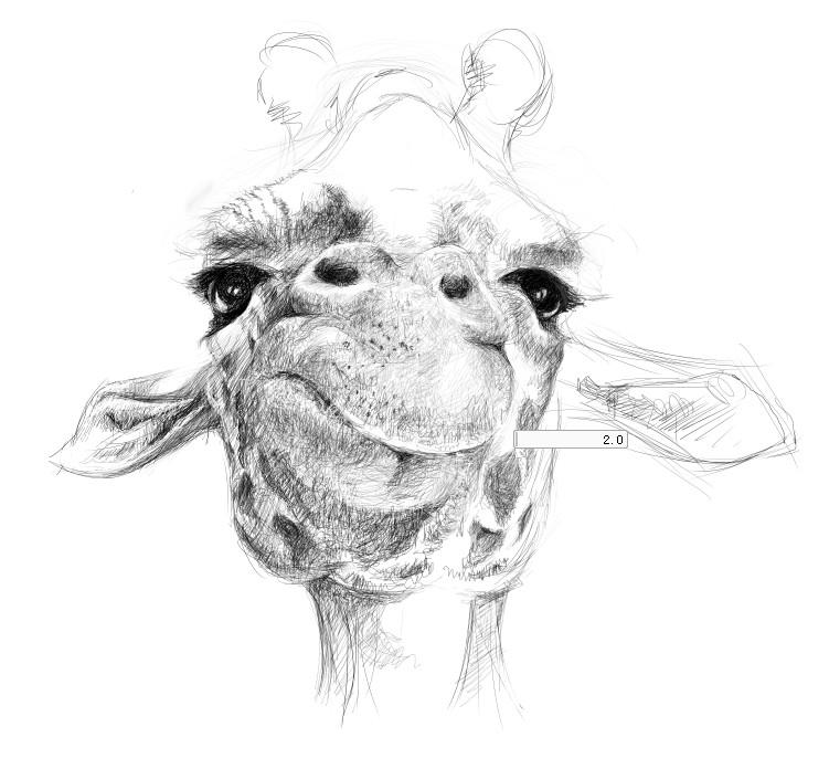 长颈鹿手绘