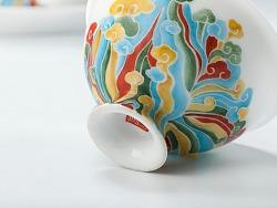 闲云居品牌:釉上彩茶具——如意