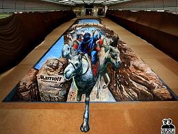 巨幅3d画《沙漠枭雄》万氏兄弟出品