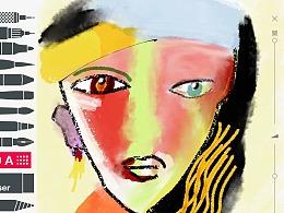 毕加索抽象画