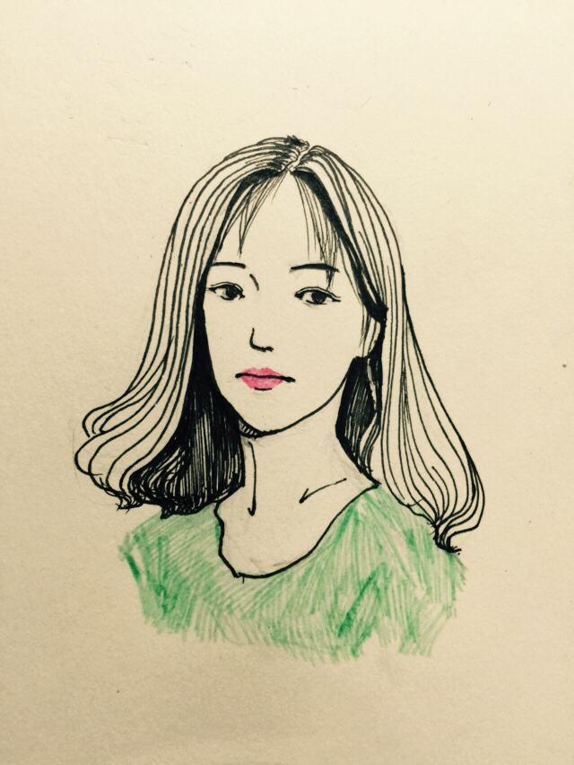 手绘头像|绘画习作|插画|立方图