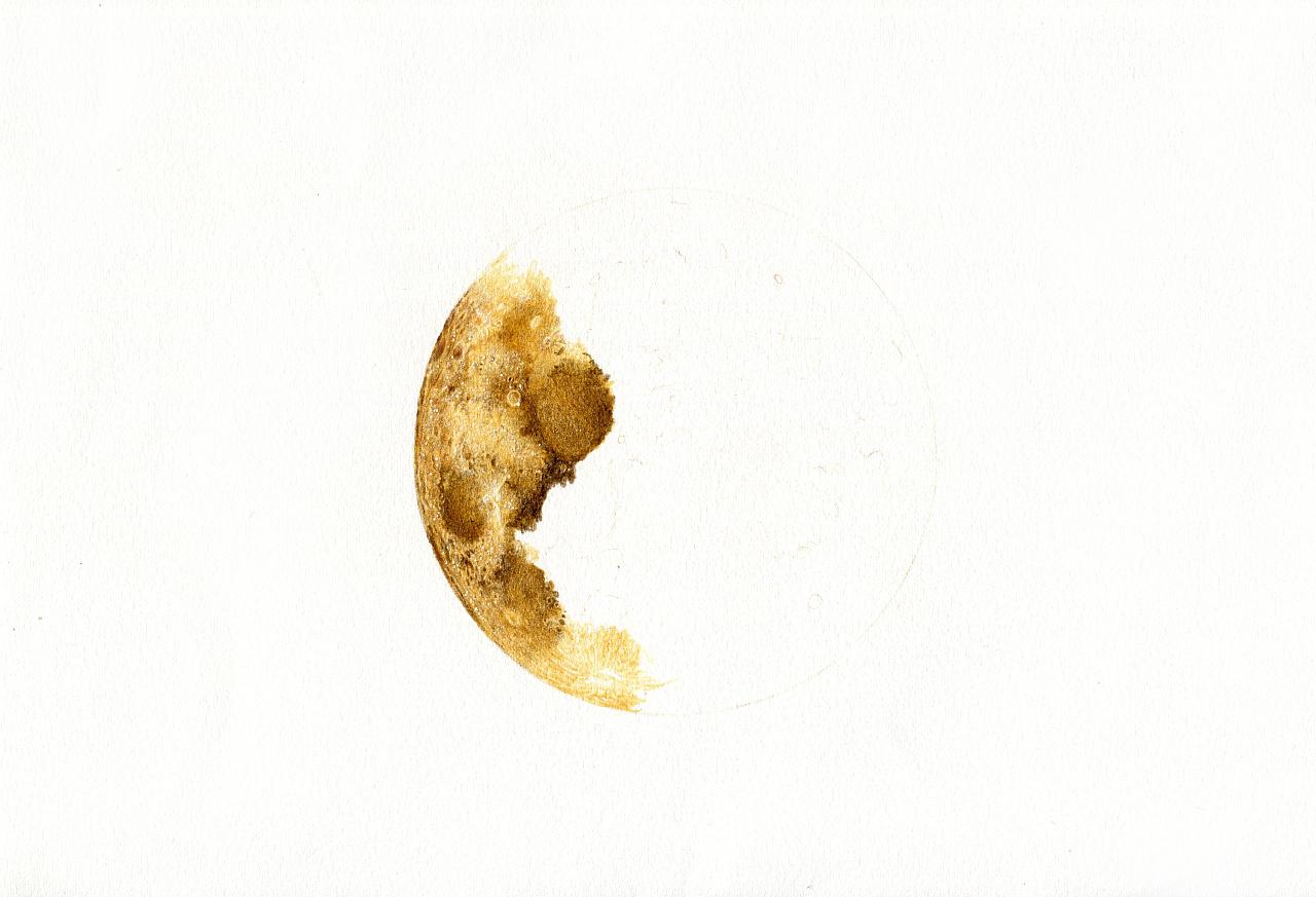 彩铅手绘—月亮