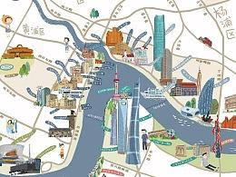 上海黄浦江游览地图