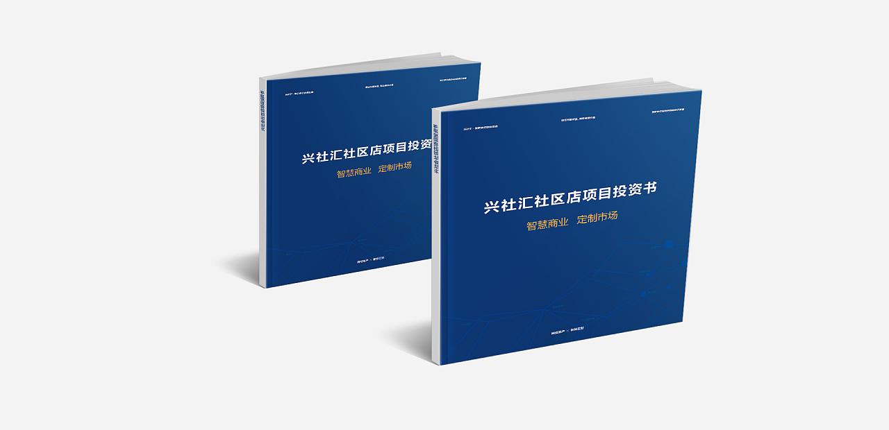15年在以前公司做的一个设计,社区店项目投资书图片