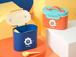 【母婴用品】儿童奶粉盒详情渲染设计