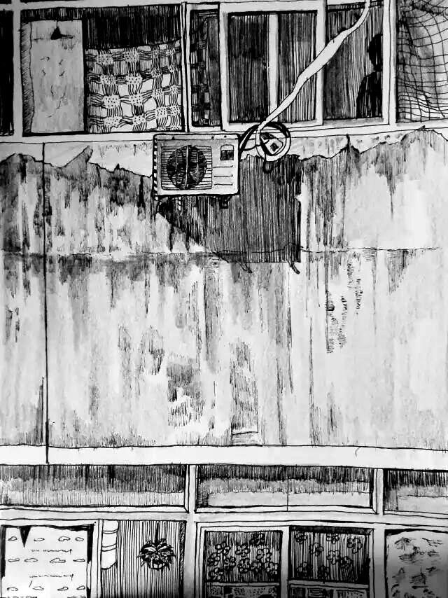 筒子楼的对面图片