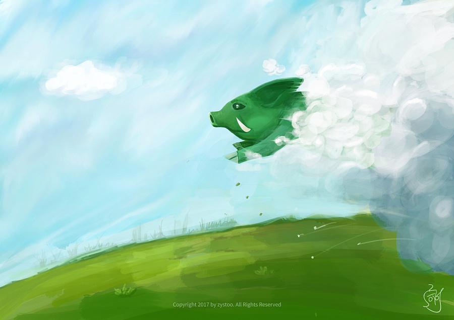 查看《飞奔的猪》原图,原图尺寸:3508x2480