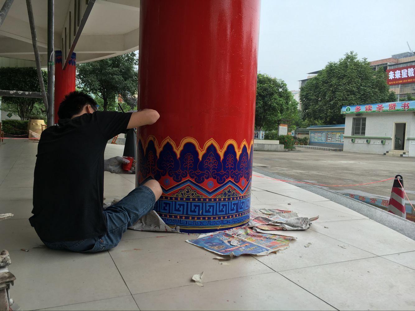 圆柱纸偶手工制作图片