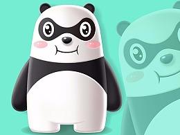 侠客熊吉祥物卡通形象吉祥物设计微信表情包gif设计