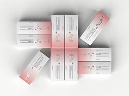抗HPV医用妇科凝胶包装盒设计-悟杰品牌视觉设计