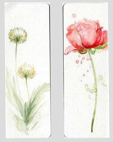 手绘书签|纯艺术|水彩|青心 - 原创作品 - 站酷