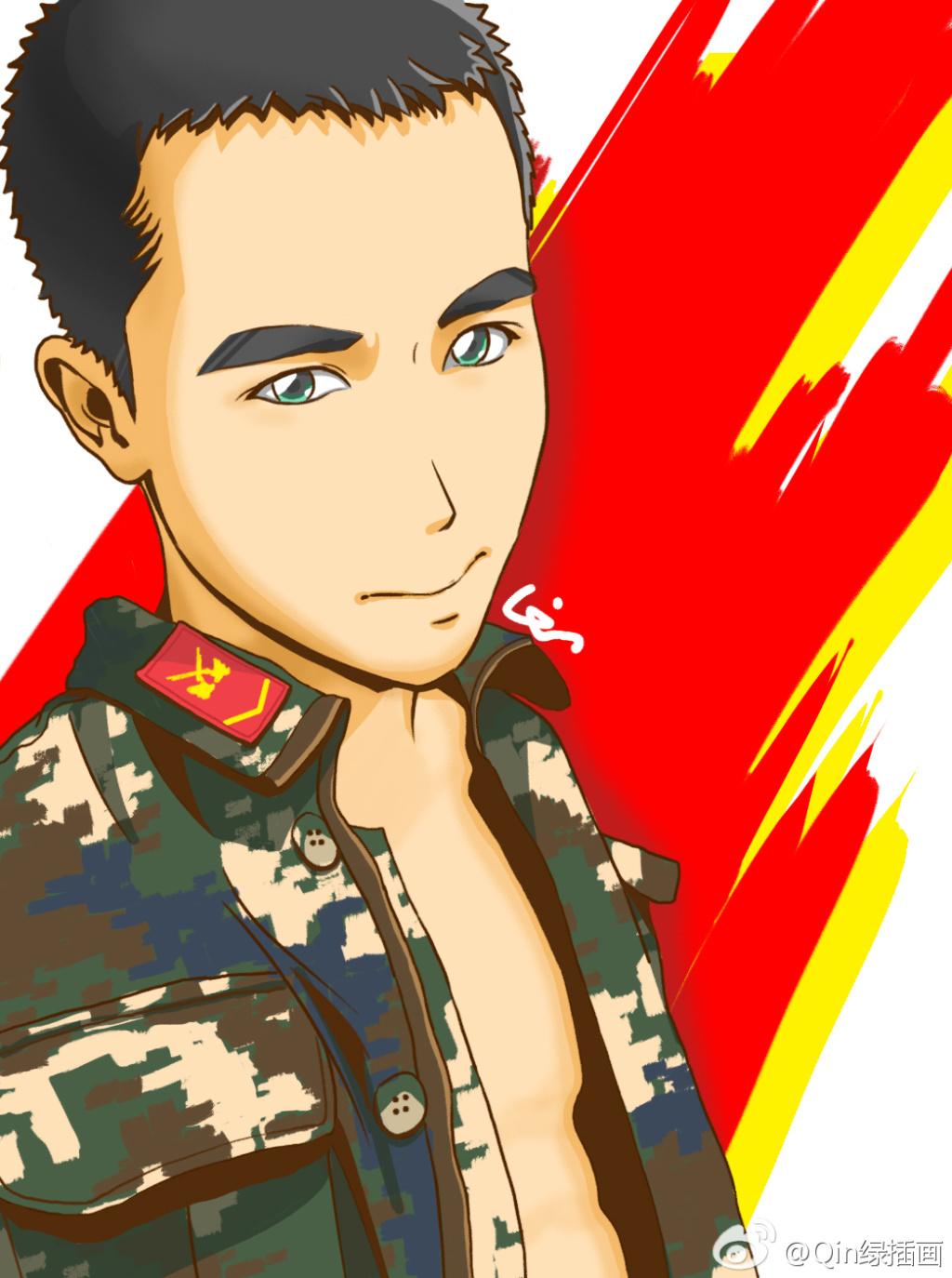 新浪_武警,陆军,军人兵哥各种插画 插画 商业插画 Qin设计 - 原创 ...