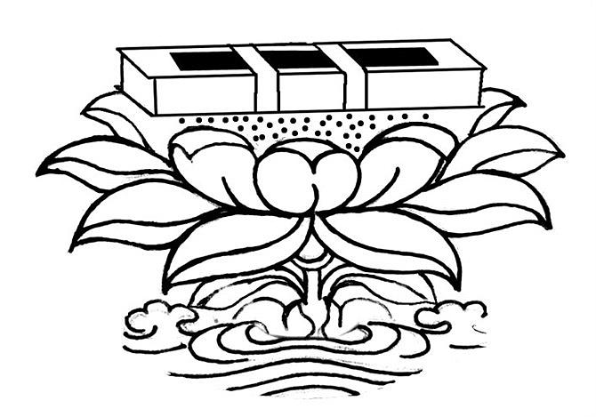 藏族元素手绘线稿