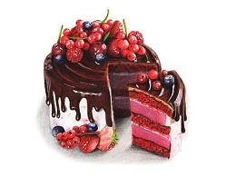 【驴大萌彩铅教程336】红加仑慕斯蛋糕 手绘美食甜点