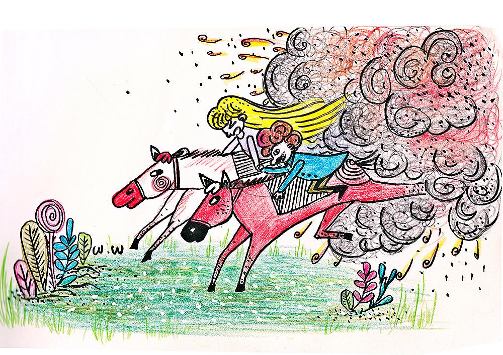 比波王子的故事(职场妈妈手绘插图)|插画|儿童插画