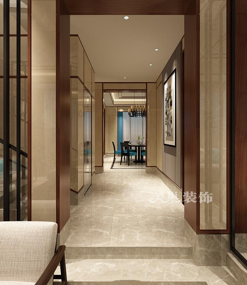 平顶山北京326平新中式风格别墅装修效果图 室桃园别墅搜房网图片