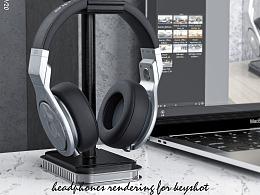 keyshot,octane头戴式,蓝牙耳机渲染