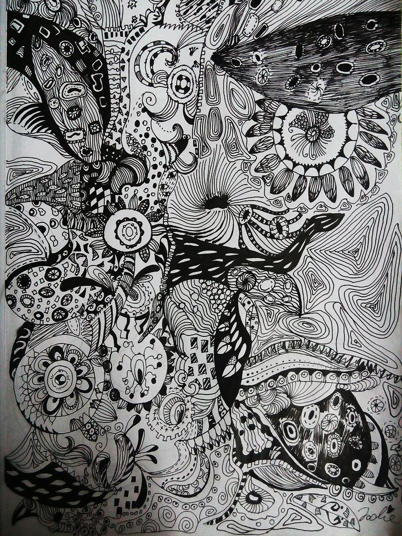 黑白装饰画花