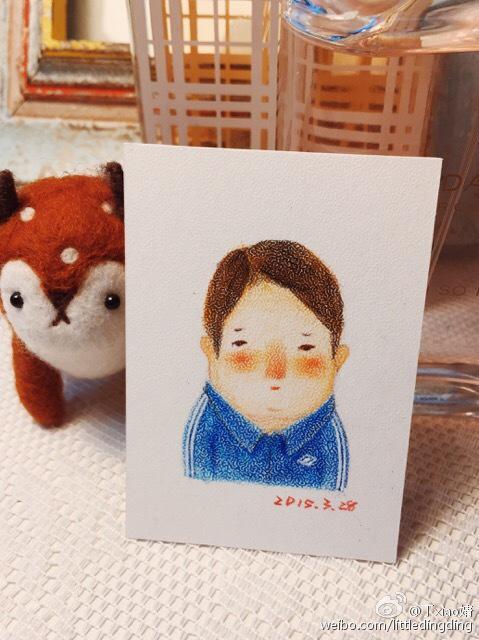 手绘彩铅小人物系列插画18|商业插画|插画|丁小婧