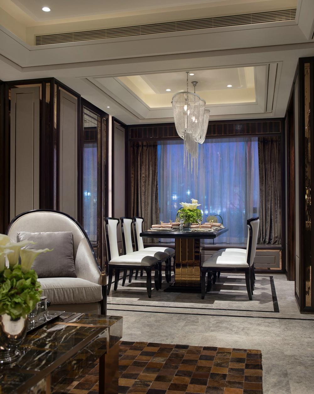 现代简欧风格,客厅装修效果图,现代港式.|空间|室内图片