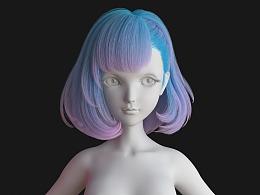 萝莉头发练习(Loli hair WIP)