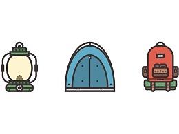 Illustrator中创建一个露营图标