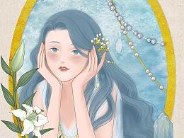 美人与珠宝系列--海蓝宝