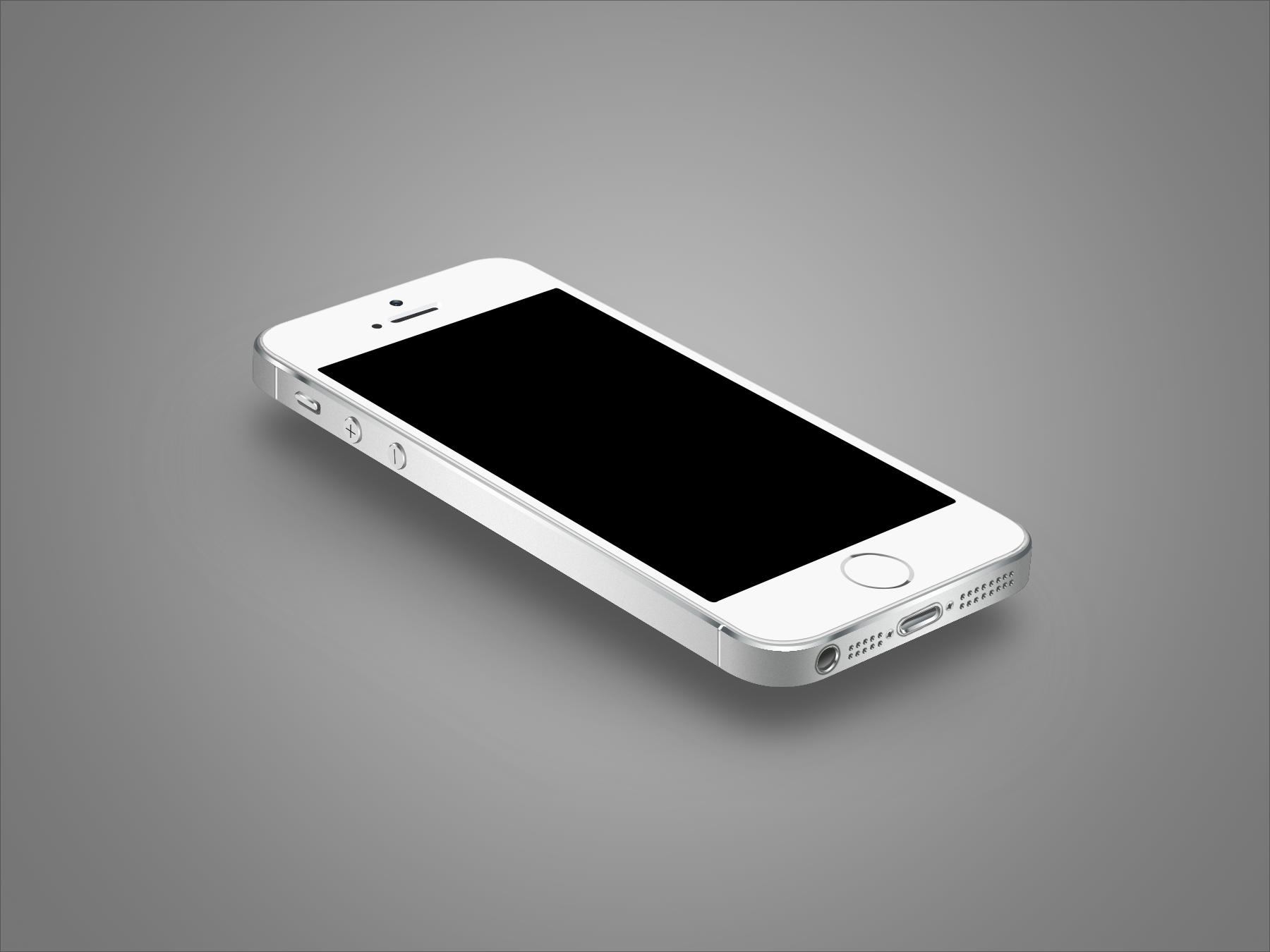 ps手绘iphone5s