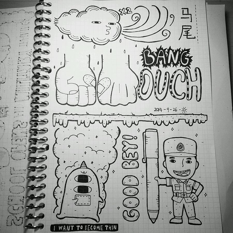 手绘日记|涂鸦/潮流|插画|minorplanet - 原创设计