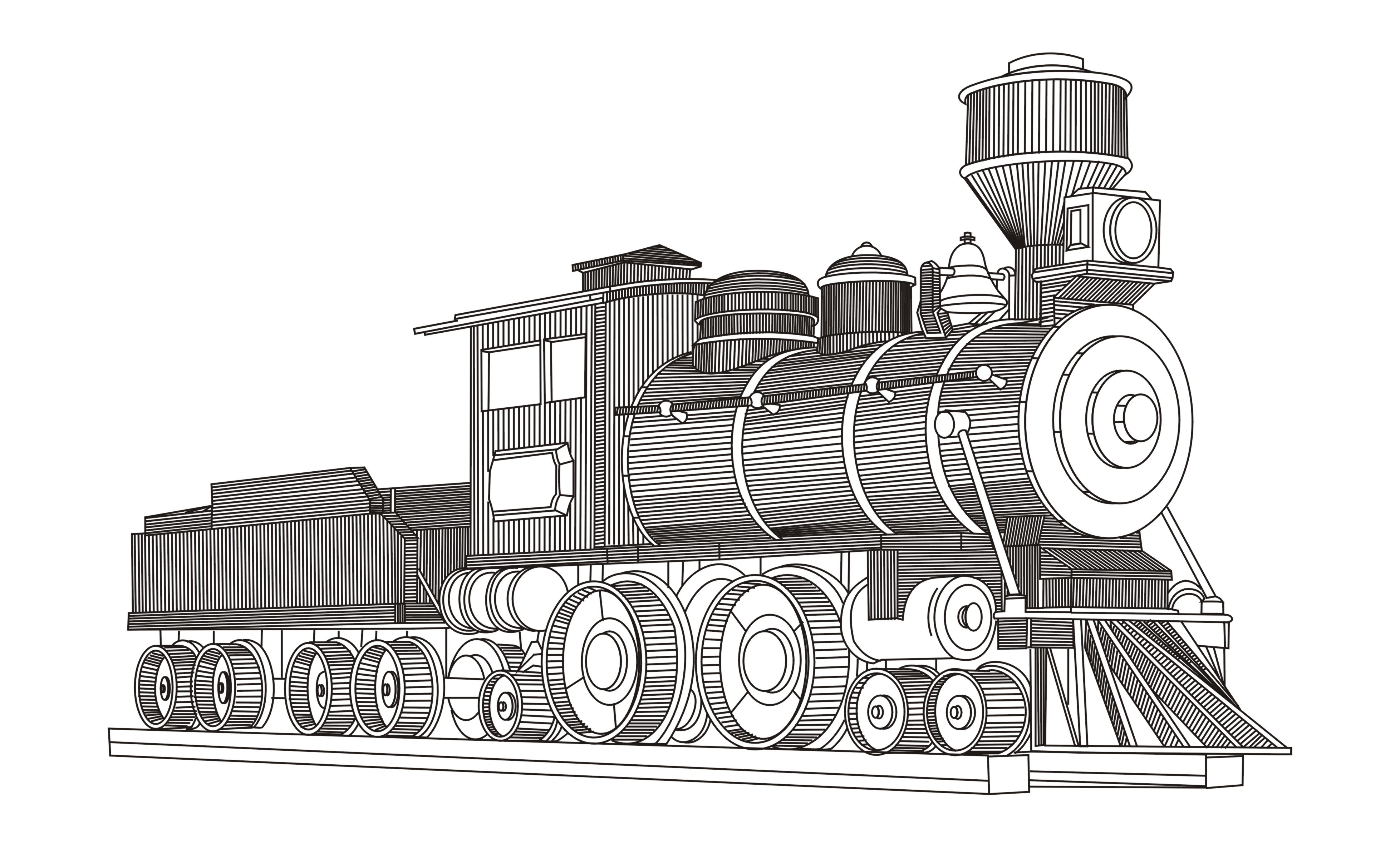 蒸汽火车头,只这个火车头就花费一天的时间才完工