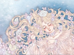 沉睡的少女——Lolita柄图设计