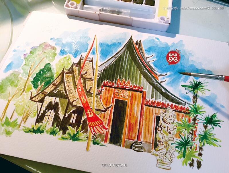 泰国手绘旅行日记过程稿--01