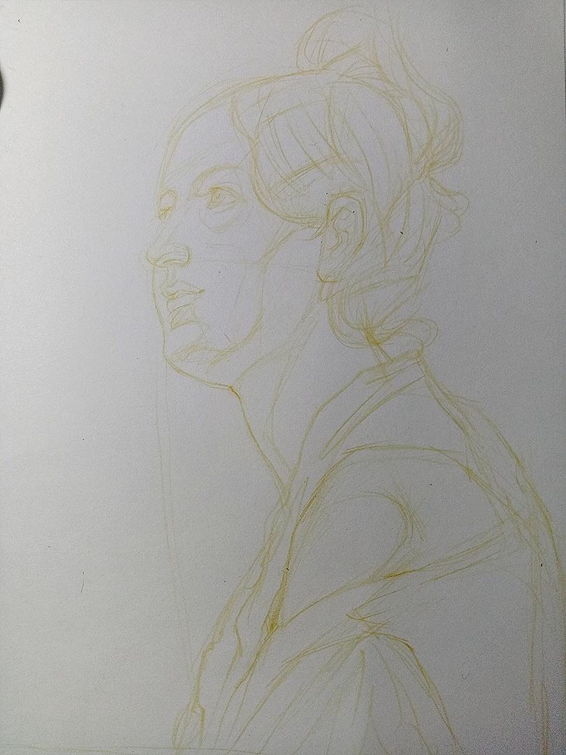 马克笔手绘人像|纯艺术|其他艺创|飞渡钰门关 - 原创