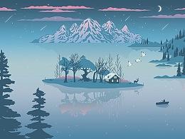 《瓦尔登湖》书封设计