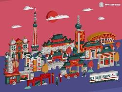 印象佛山——城市形象插画图形设计