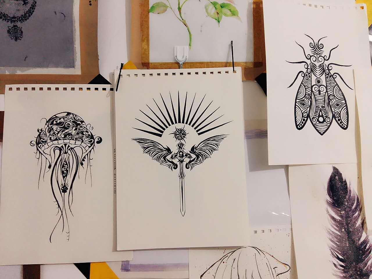 定制手绘装饰画可纹身使用