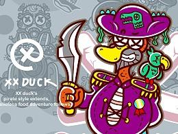 XX鸭-海盗系列插画