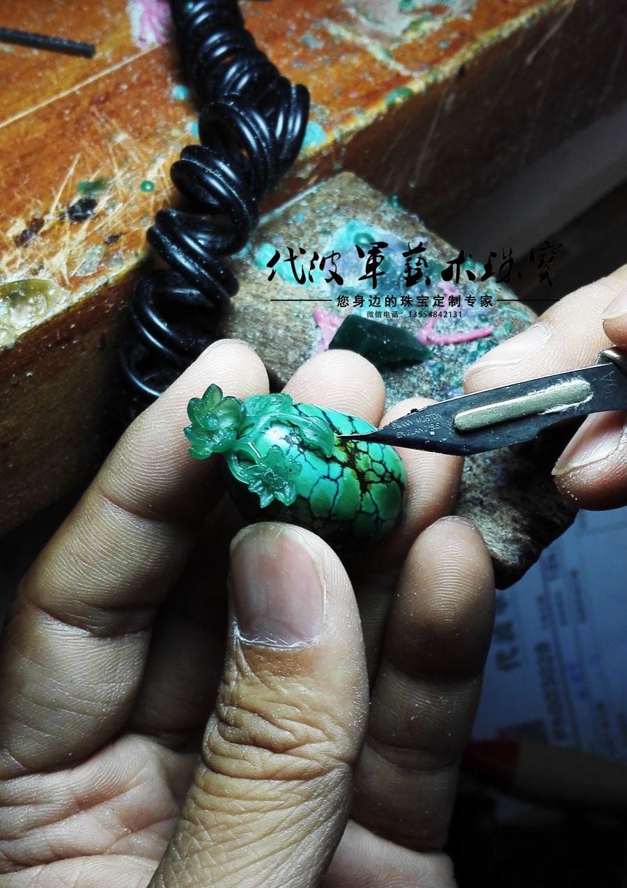 查看《代波军艺术珠宝定制----   一件绿松美丽一个女人作品欣赏》原图,原图尺寸:900x1275