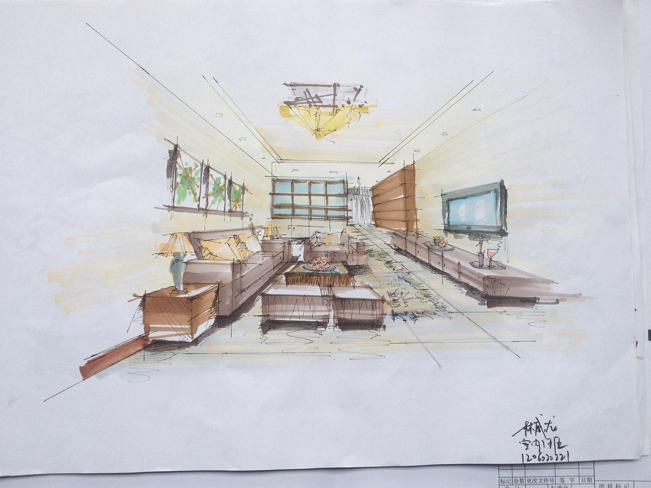 室内手绘作业