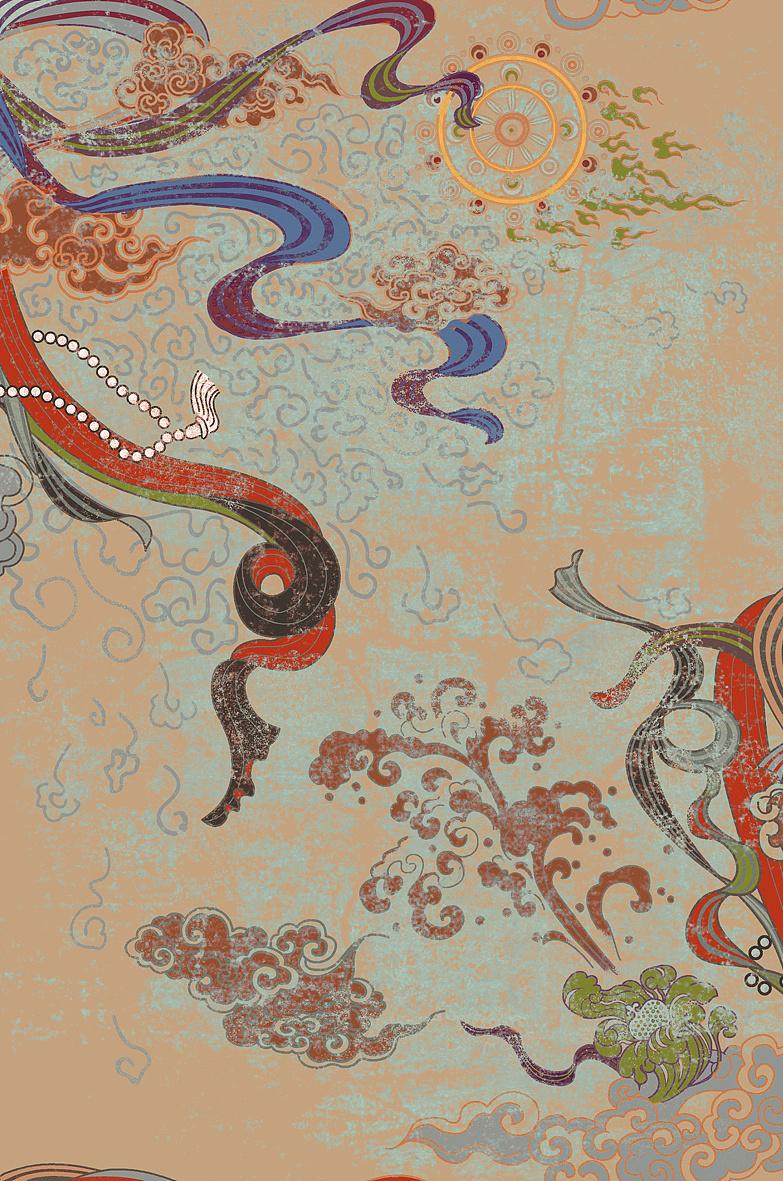 敦煌丝路主体服装图案设计——达利2013年新品发布图片